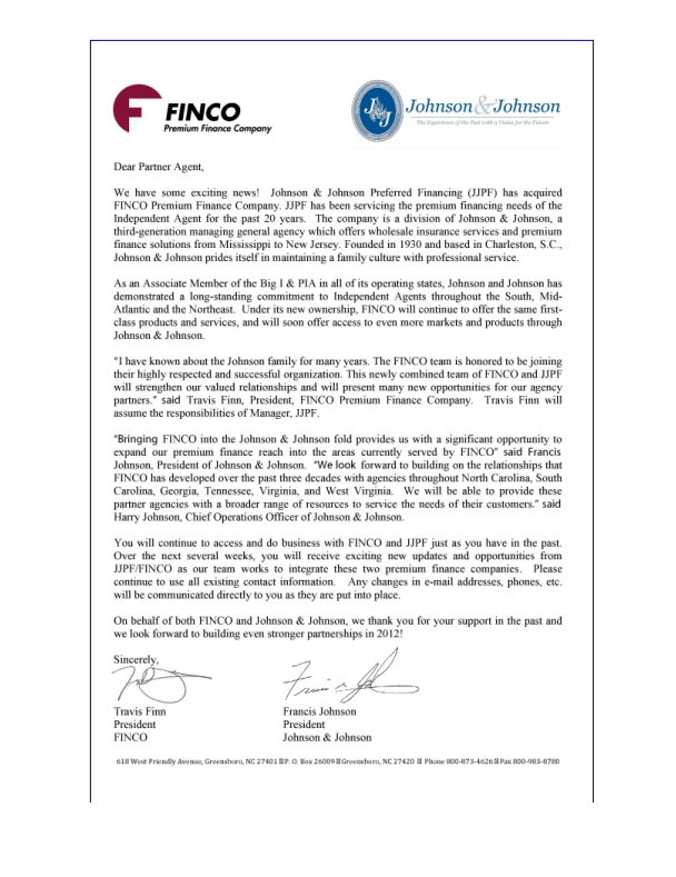 FINCO Premium Finance Company, Inc.